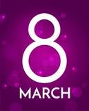 8 marzo, giorno internazionale del ` s delle donne Fondo con il grande numero otto Immagini Stock Libere da Diritti