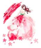 8 marzo illustrazione di festa Fotografia Stock