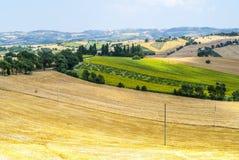 Marzo (Italia), paesaggio Immagine Stock