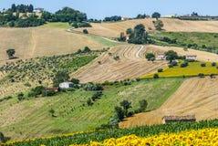 Marzo (Italia), paesaggio Fotografie Stock Libere da Diritti
