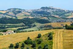 Marzo (Italia), paesaggio Fotografia Stock