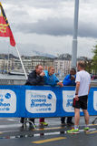 3 marzo 2015 maratona di armonia a Ginevra switzerland Fotografia Stock Libera da Diritti