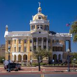 6 marzo 2018 - MARSHALL TEXAS - Marshall Texas Courthouse-Harrison County Courthouse, Marshall, Camera, americana immagini stock