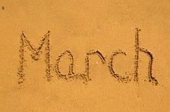 Marzo nella sabbia Fotografia Stock Libera da Diritti