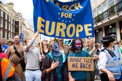 Marzo para Europa Fotografía de archivo libre de regalías