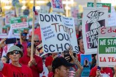 Marzo para la educación Los Angeles imagen de archivo libre de regalías