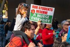 Marzo para la educación Los Angeles foto de archivo libre de regalías