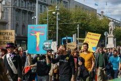 Marzo para la opción por el aborto endereza el ARCO de la campaña imágenes de archivo libres de regalías