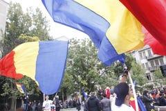 Marzo para la unión de Rumania con la República del Moldavia Fotografía de archivo