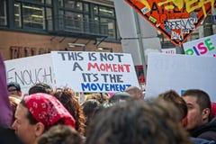 Marzo para nuestra marcha del ` s del movimiento de las vidas en Los Ángeles céntrico Fotos de archivo