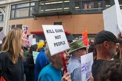 Marzo para nuestra marcha del ` s del movimiento de las vidas en Los Ángeles céntrico Foto de archivo