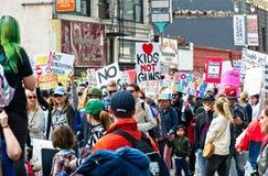 Marzo para nuestra marcha del ` s del movimiento de las vidas en Los Ángeles céntrico Imágenes de archivo libres de regalías