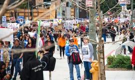 Marzo para nuestra marcha del ` s del movimiento de las vidas en Los Ángeles céntrico Fotos de archivo libres de regalías