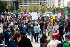 Marzo para nuestra marcha del ` s del movimiento de las vidas en Los Ángeles céntrico Foto de archivo libre de regalías