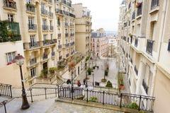 1° MARZO 2015 - PARIGI: Vicolo nel centro di Parigi Fotografia Stock