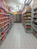 Scaffale del supermercato Fotografia Stock Libera da Diritti