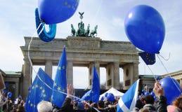 Marzo per Europa Berlino Fotografia Stock Libera da Diritti