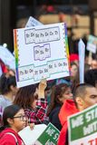Marzo per istruzione Los Angeles immagini stock