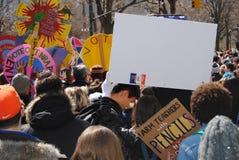 Marzo per la nostra folla di vite, raduno, protesta, NYC, NY, U.S.A. Fotografia Stock Libera da Diritti