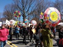 Marzo per le nostre vite, protesta, tiro del ` t di Don, controllo delle armi, NYC, NY, U.S.A. Immagine Stock Libera da Diritti