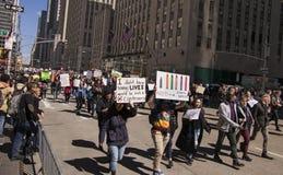 Marzo por nuestras vidas, Nueva York Imagen de archivo