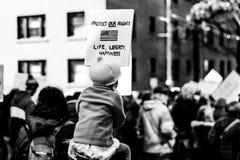 Marzo por nuestras vidas Seattle Imagenes de archivo