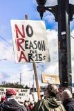 Marzo por nuestras vidas Seattle Imagen de archivo libre de regalías