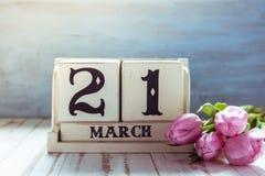 21 marzo primo giorno della primavera Fotografia Stock Libera da Diritti