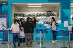 17 marzo 2018 PyeongChang 2018 Fuori dei giochi PA olimpico fotografia stock libera da diritti