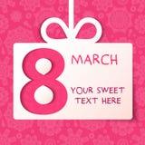 8 marzo regalo Fotografie Stock