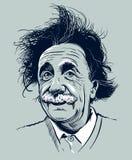 20 marzo 2018: Ritratto di Albert Einstein Uso editoriale soltanto illustrazione di stock