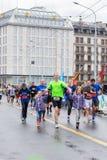 Marzo, 3ro 2015 maratón de la armonía en Ginebra Suiza Foto de archivo libre de regalías