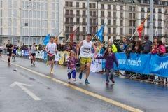 Marzo, 3ro 2015 maratón de la armonía en Ginebra Suiza Fotografía de archivo