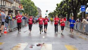 Marzo, terzo del 2015 maratona di armonia a Ginevra switzerland Immagini Stock