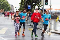 Marzo, terzo del 2015 maratona di armonia a Ginevra switzerland Fotografia Stock Libera da Diritti