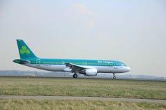 Marzo, 24to 2015, aeropuerto EI-DEP Aer Lingus de Amsterdam Schiphol Foto de archivo