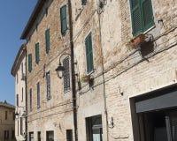 Marzos de Corinaldo, Italia en la mañana Foto de archivo libre de regalías