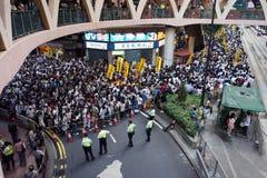 Marzos de Hong-Kong el 1 de julio Imágenes de archivo libres de regalías
