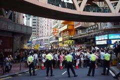 Marzos de Hong-Kong el 1 de julio Imagen de archivo libre de regalías