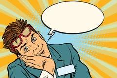 Marzyć biznesmena z szkłami ilustracji