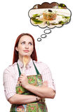 Marzyć specjalny obiadowy posiłek Zdjęcia Stock