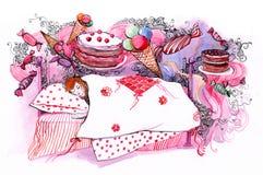 marzy cukierki Obrazy Royalty Free