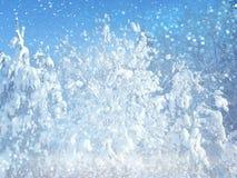 Marzycielska i abstrakcjonistyczna zima krajobrazu fotografia błyskotliwości narzuta Obrazy Royalty Free