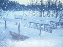 Marzycielska i abstrakcjonistyczna zima krajobrazu fotografia błyskotliwości narzuta Fotografia Stock