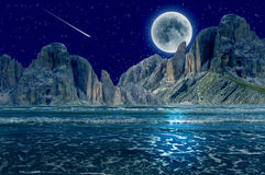 Marzycielska nocy sceneria Fotografia Stock