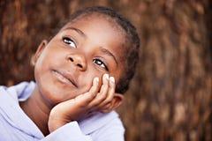 marzycielski afrykański dziecko Zdjęcia Stock