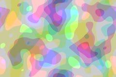 Marzycielski curvy abstrakcjonistyczny tło z pastelowymi kolorami ilustracja wektor