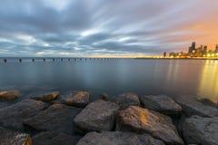 Marzycielski dwubarwny wschód słońca Zdjęcia Royalty Free
