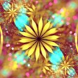 Marzycielski Fractal kwiat ilustracji
