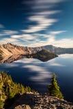 Marzycielski i Surrealistyczny Krater jezioro Obrazy Royalty Free